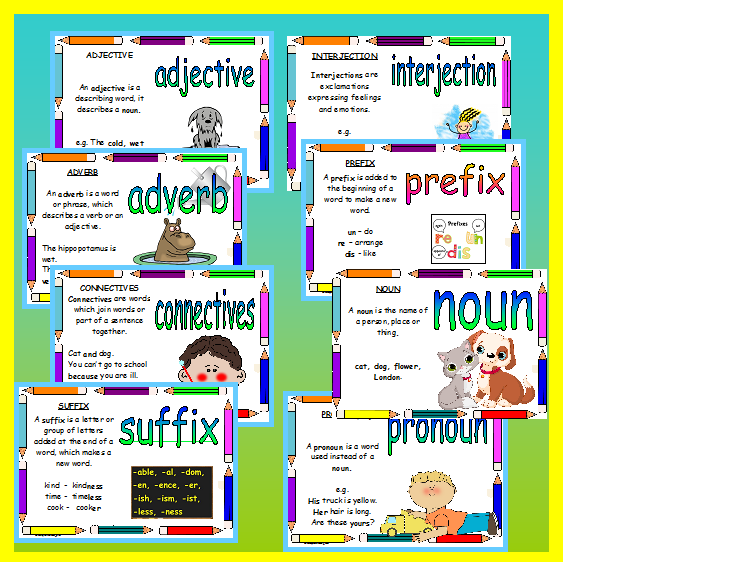 Parts of Speech Teaching resource classroom display EYFS  KS1