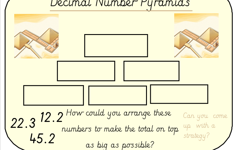 Adding Decimal Number Pyramids And Part Whole Diagrams