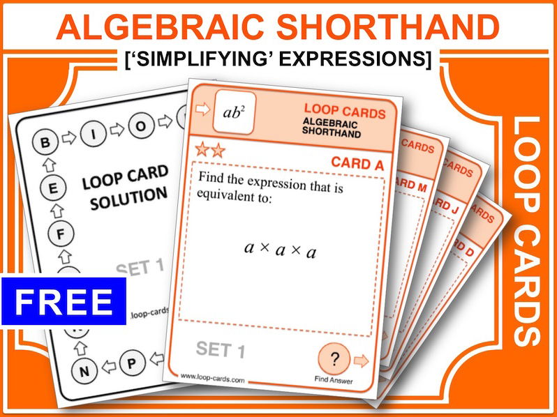 Algebraic Shorthand (Loop Cards)