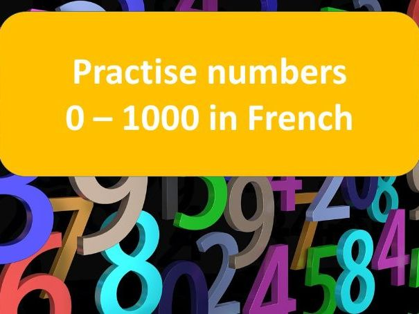 French number practice 0-1000