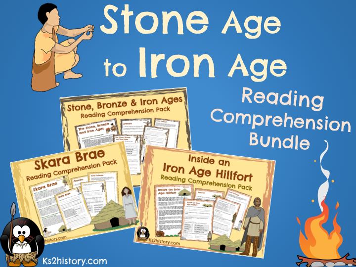 Stone Age to Iron Age Reading Comprehension Bundle