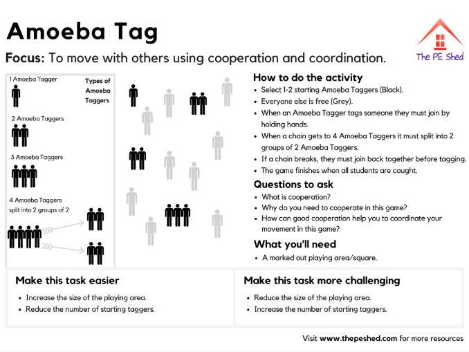 Amoeba Tag - PE Game