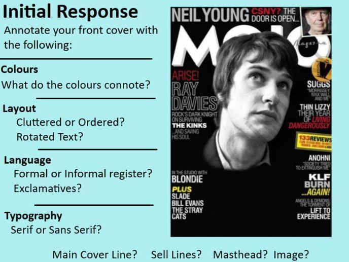 OCR GCSE Media Studies 2019 - Music Magazines (Mojo) SOW