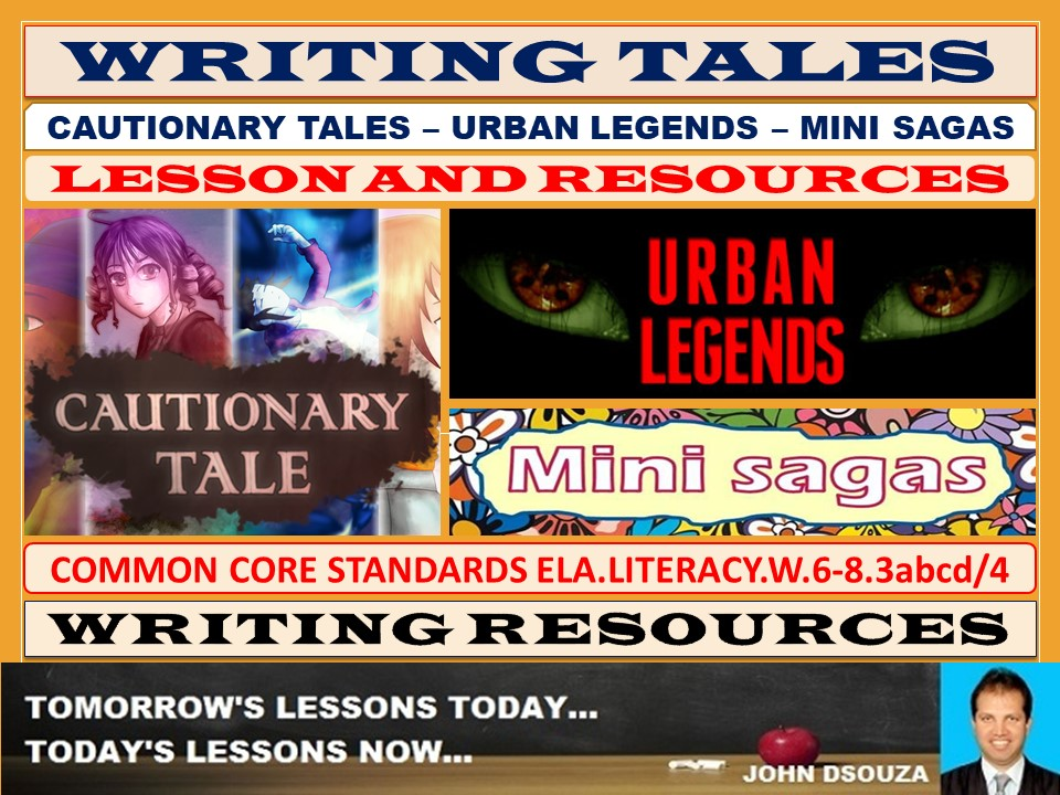 CAUTIONARY TALES URBAN LEGENDS MINI SAGAS LESSON AND RESOURCES