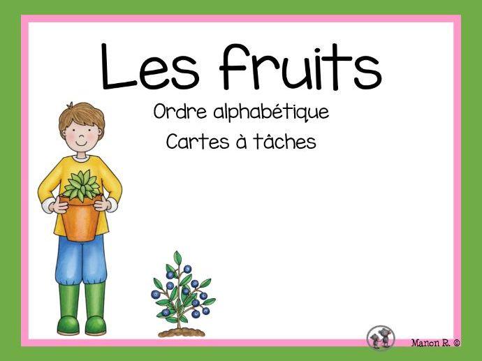 Les fruits (ordre alphabétique)