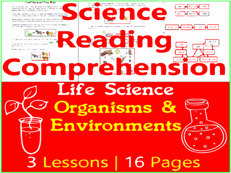 Life Science Reading Passages | Organisms & Environments | Grade 3-4