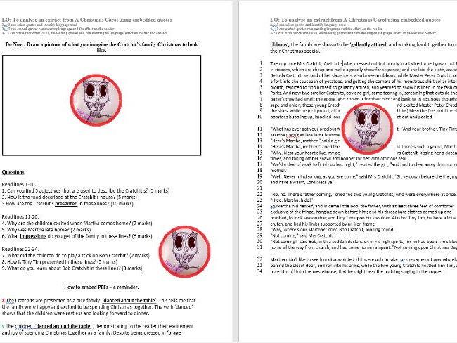 A Christmas Carol Eduqas Literature Exam Practice