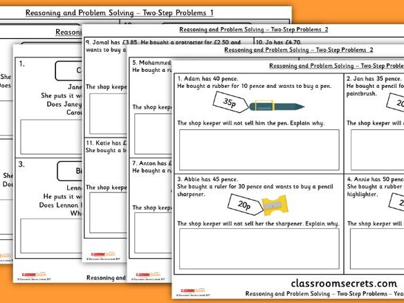 Year 2 Two Step Problems WRM Measurement Money Reasoning and Problem Solving