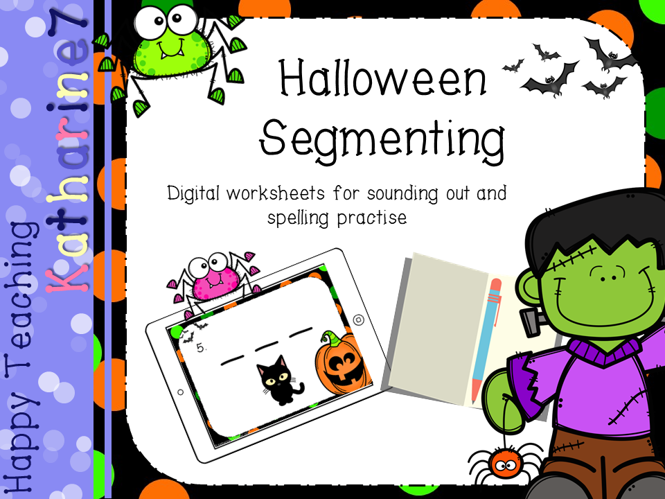Digital worksheet - Halloween phonics freebie!