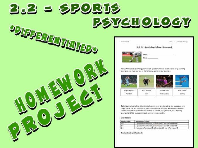 OCR GCSE PE 9-1 (2016) 2.2 - Homework Project - Sports Psychology