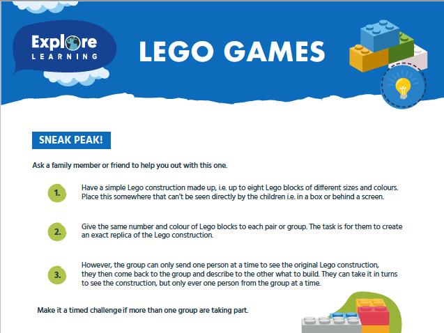 Free_Lego problem solving activites