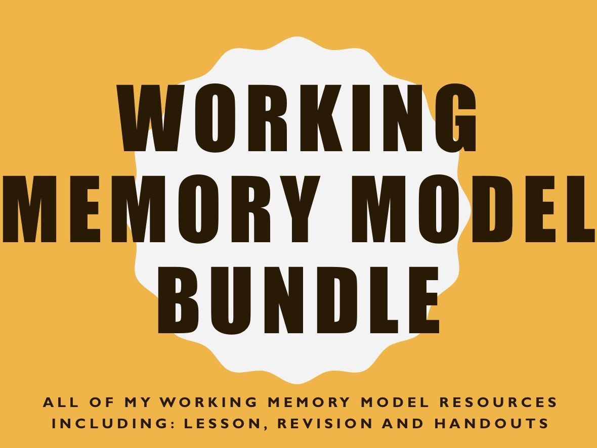 Working Memory Model Bundle