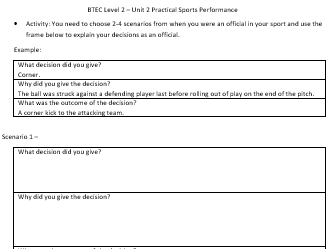 BTEC Sport Level 2- Football Referee