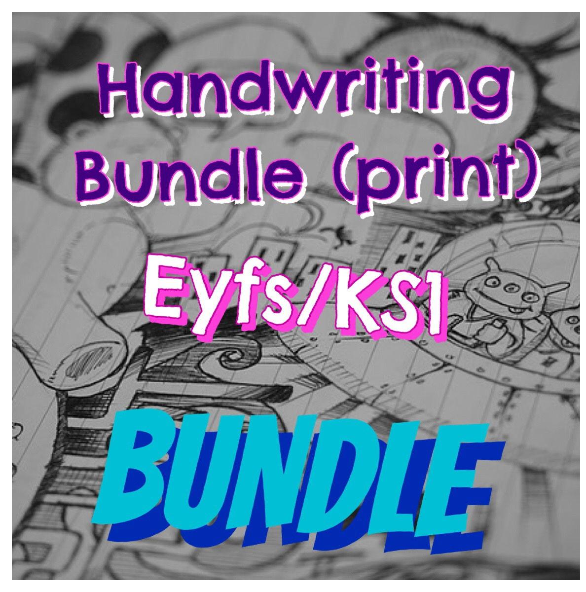 Handwriting Bundle (Printed Font)