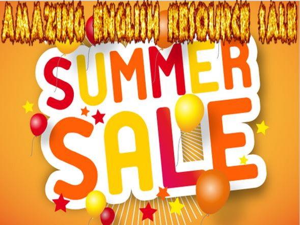 Summer English Resource Sale