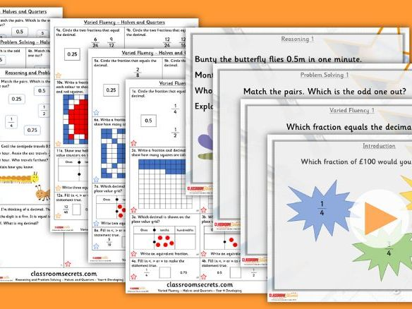 Year 4 Halves and Quarters Summer Block 1 Lesson Pack