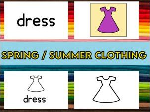 Spring / Summer Clothing Matching Cards
