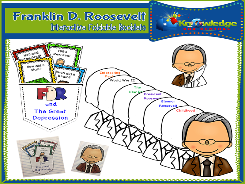 Franklin D. Roosevelt Interactive Foldable Booklets