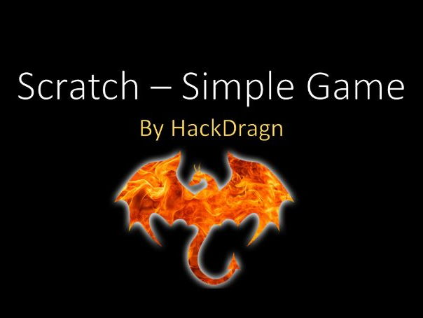 Beginning Scratch - A Simple Game - Preview