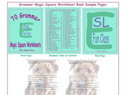 70 Grammar Magic Square Worksheet Book
