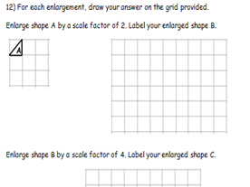 KS2 ENLARGEMENTS BY SCALE FACTORS OF 2, 3, 4 AND 5. WORD & PDF. ANSWERS. BLURRED FOR COPY RIGHT