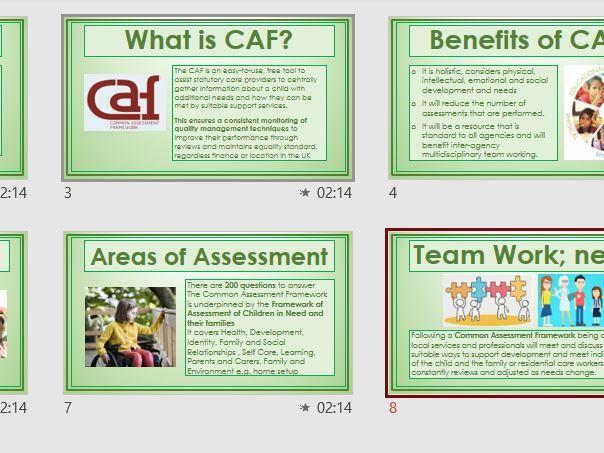 Common Assessment Framework explained, an overview