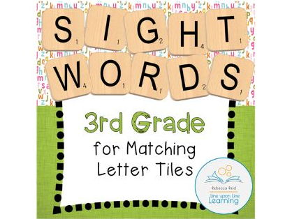 Letter Tiles Sight Words 3rd Grade Templates