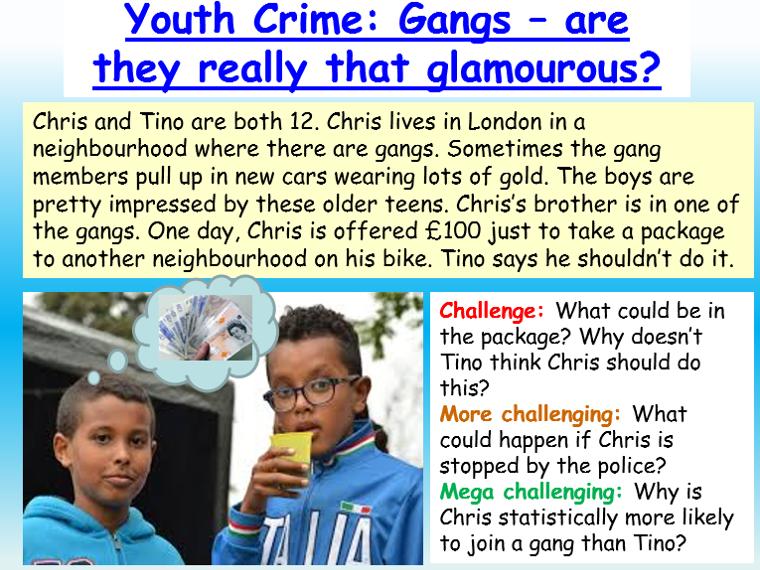 Gangs / Youth Crime PSHE