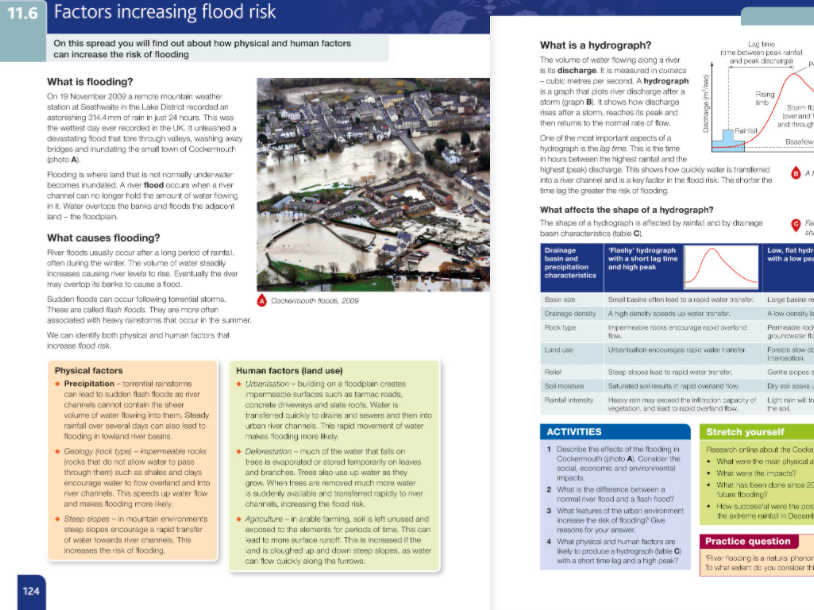 11.6 Factors increasing flood risk