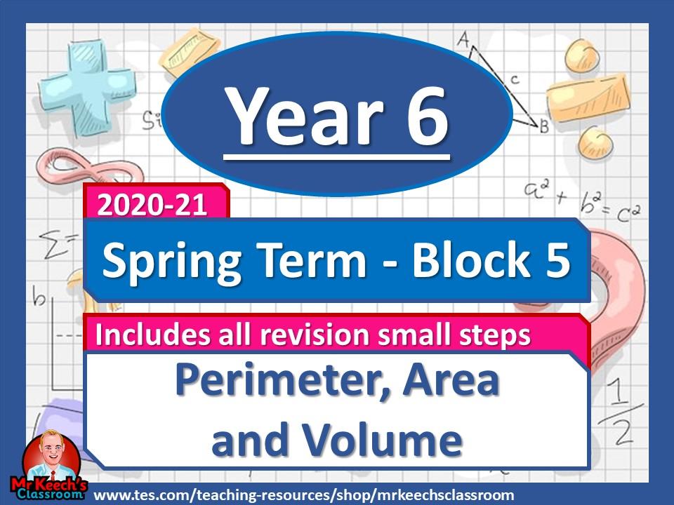 Year 6 - Perimeter, Area and Volume - Spring Block 5 - White Rose Maths