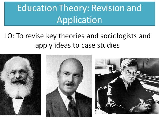AQA A level Sociology- Education theory revision