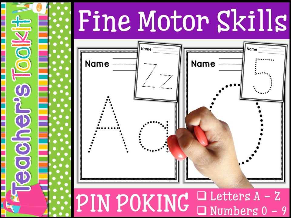 Motor Skills: Pin Poking Letters and Numbers