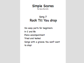 Simple Scores: An easy arrangement for a beginner orchestra. Piece 7 Rock Till You drop