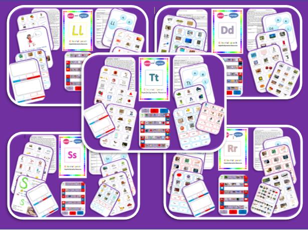 Phoneme S, T, R, L & D  Bundle   Initial, Medial and End Position