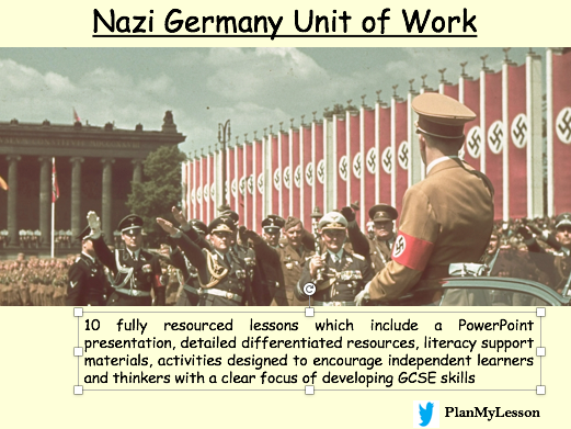 Nazi Germany Unit of Work (10 fully resourced lessons)