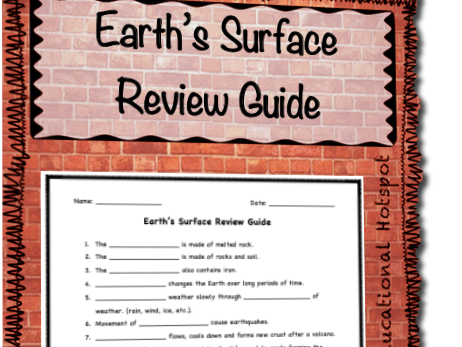 Earth's Surface Review Guide
