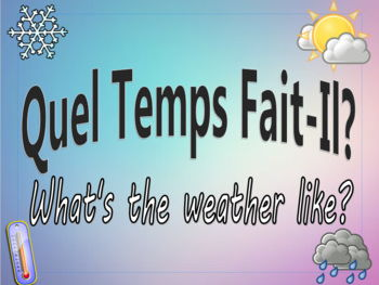 French Class Daily Activity - Quel temps fait-il?