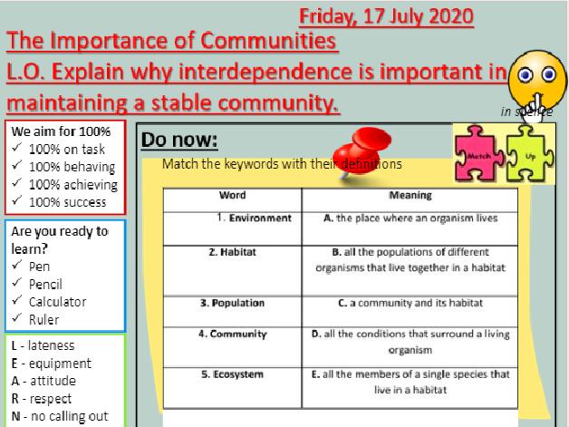 AQA B16 Adaptations and interdependence