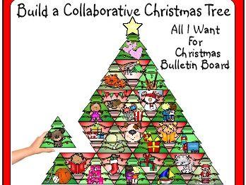 Christmas Activity Collaborative Bulletin Board All I Want For Christmas