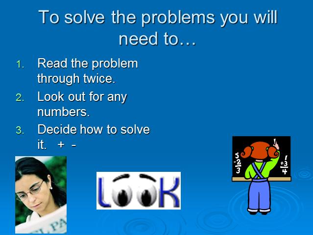 Year 3 Problem Solving Presentation