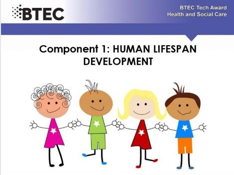 Human lifespan development - BTEC Health and Social care. Work booklet .  Part 5 of a series of 6.