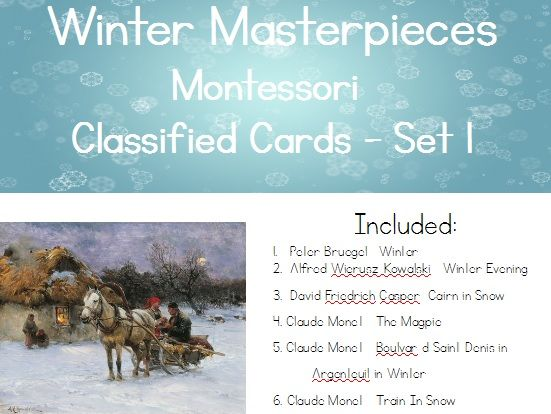Winter Masterpieces - Montessori