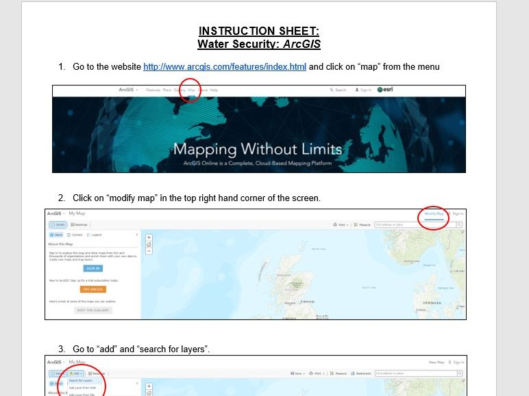 ArcGIS Instructions - Water Security