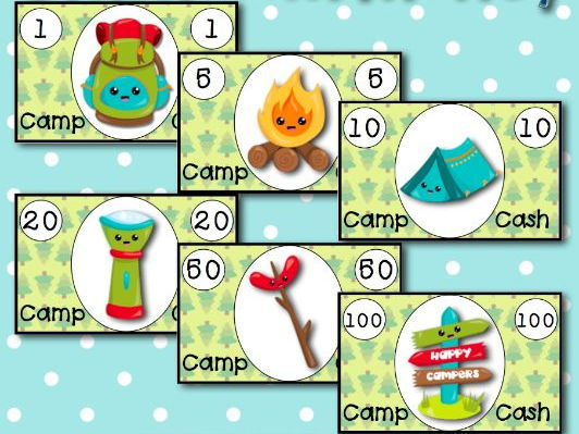 Camping Theme Classroom Money
