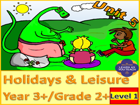 PRIMARY SPANISH UNIT - HOLIDAYS & LEISURE (Premium Version)