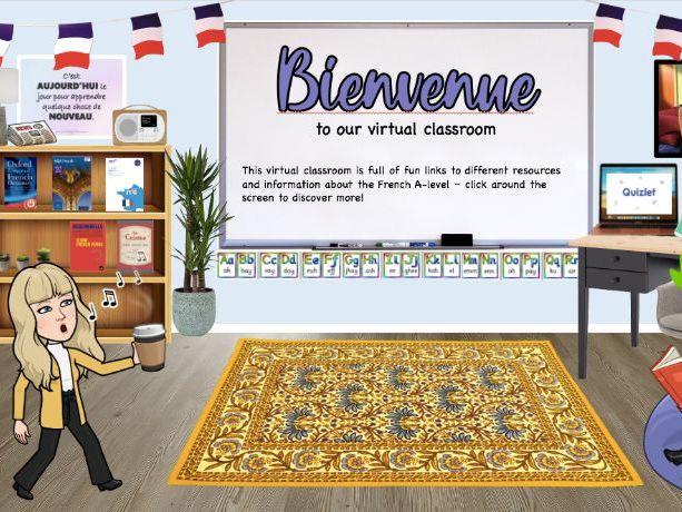 Y11 French Transition Bitmoji Classroom
