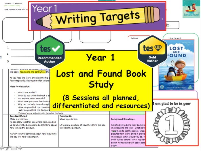 Year 1 / 2 Lost and Found Book Study Resource Pack (English, Creative Writing, Fiction, literacy Y1