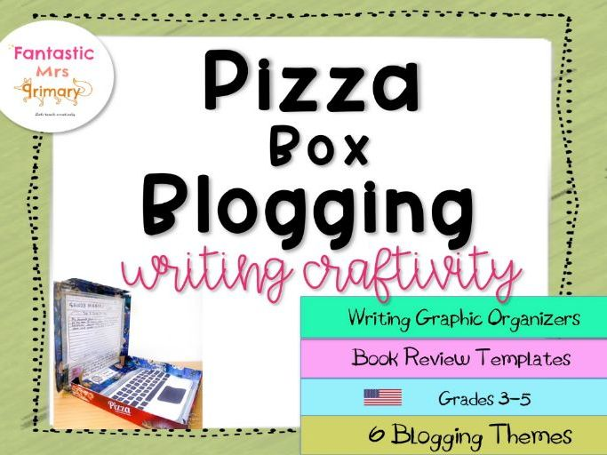 Pizza Box Blogging:(US) writing graphic organizers with book review templates