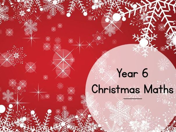 Christmas Maths - Year 5/6