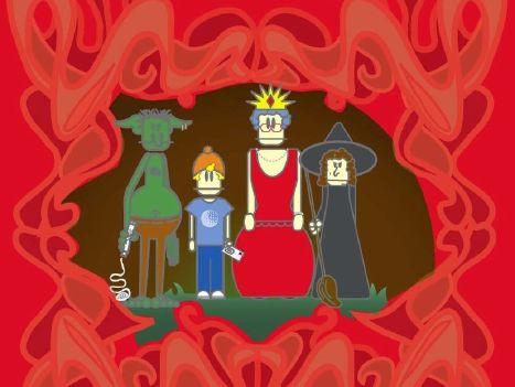 Short play script: A Suitably Happy Ending (fairy tale, starter script, confidence)